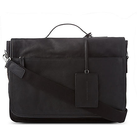 MARC BY MARC JACOBS Out of bounds leather messenger bag (Black