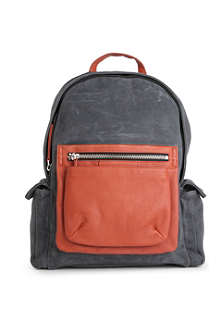 MARC BY MARC JACOBS Cotton and leather colourblocked backpack