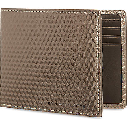MARC BY MARC JACOBS Stacked Cubes Martin wallet (Steel