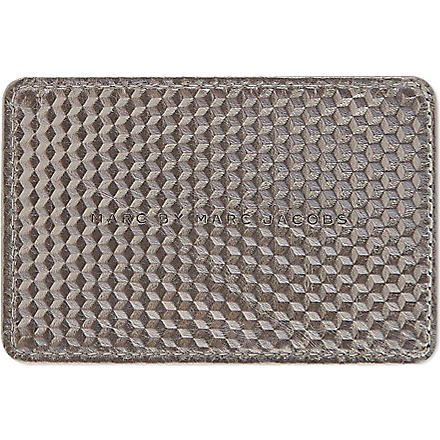 MARC BY MARC JACOBS Stacked Cubes card holder (Steel