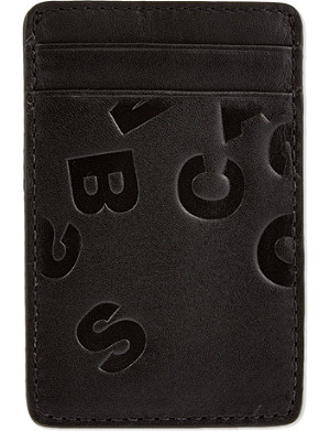 MARC BY MARC JACOBS Initial embossed card holder