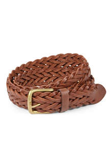 FULLUM & HOLT Parker woven-leather belt