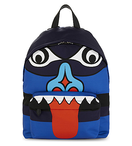GIVENCHY Totem print backpack (Blue+red