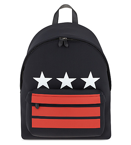 GIVENCHY Stars and Stripes neoprene backpack (Multi
