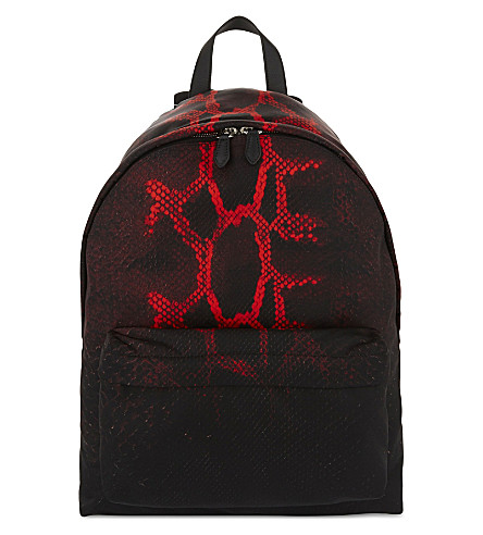 GIVENCHY Python print backpack (Blk/red