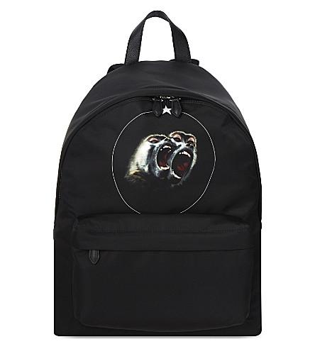 GIVENCHY Monkey classic nylon backpack (Multi