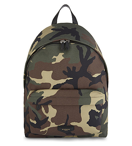 GIVENCHY Camo canvas backpack (Camo