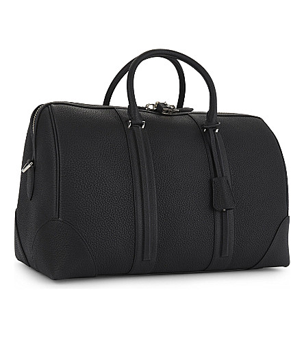 GIVENCHY Taurillon Grained Leather Weekend Holdall in Black