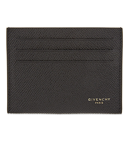 GIVENCHY Leather card holder (Black
