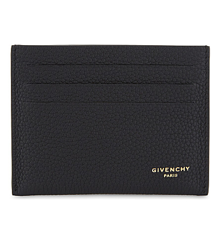 GIVENCHY Taurillon grained leather card holder (Black