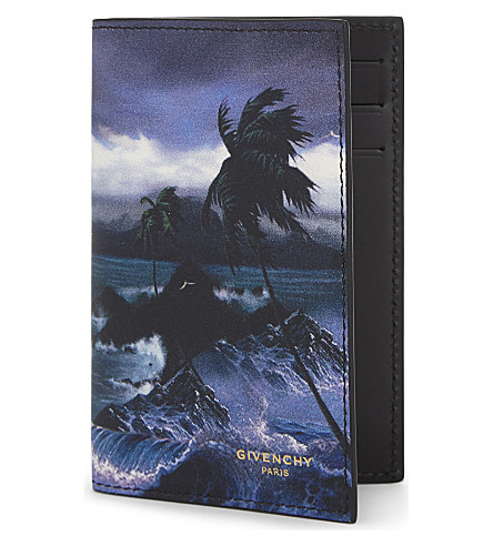GIVENCHY Hawaii leather card holder (Multi