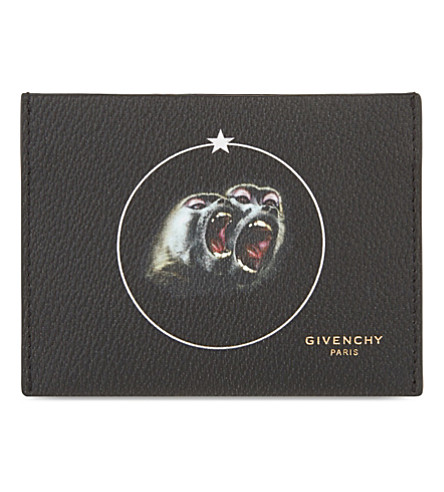 GIVENCHY Monkey Brothers card holder (Multi