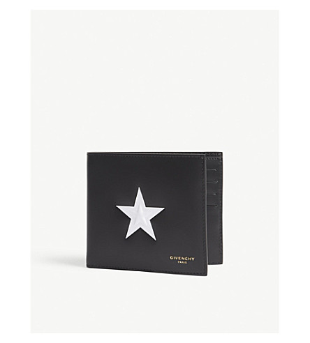 GIVENCHY Star leather billfold wallet (Black