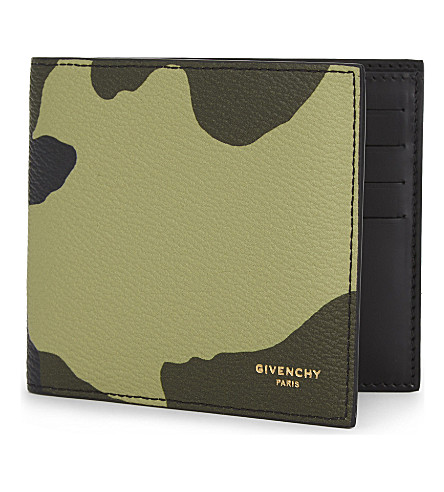 GIVENCHY Camouflage textured leather billfold wallet (Multi