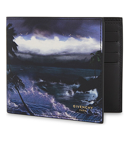 GIVENCHY Hawaii smooth leather wallet (Multi