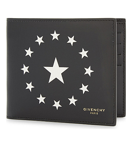 GIVENCHY Circle star leather wallet (Black/white