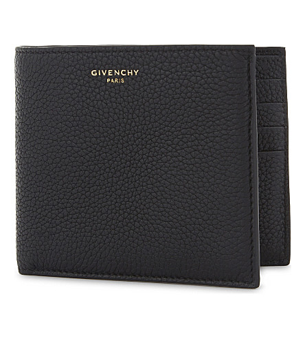 GIVENCHY Taurillon leather billfold wallet (Black