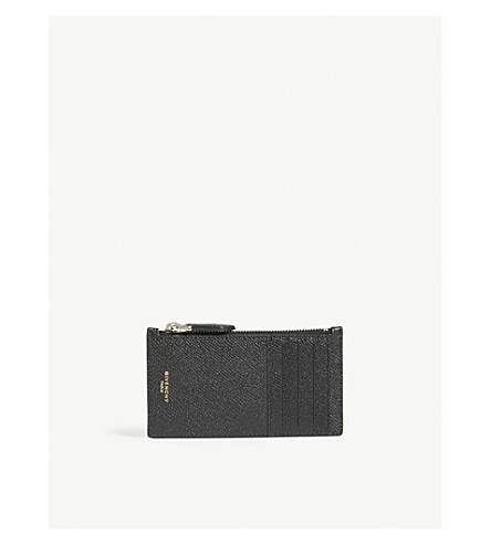 GIVENCHY Pebbled leather card case (Black