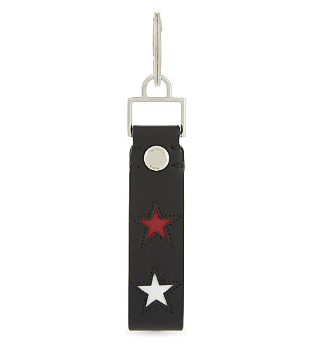 Stars Leather Keyring