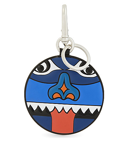 GIVENCHY Leather totem key ring (Blue+red