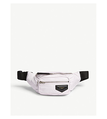 GIVENCHY Logo-patch shell bum bag (Pink