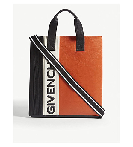 GIVENCHY MC3 leather tote (Blk+org