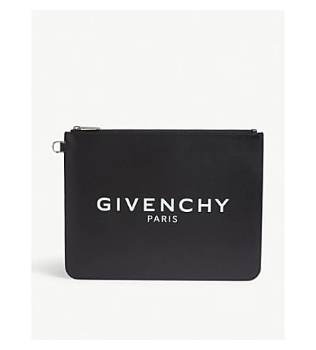 GIVENCHY Logo negro cuero grande de blanco bolsa rrwqx6OCg