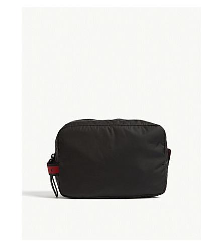 GIVENCHY Logo nylon wash bag (Black+red