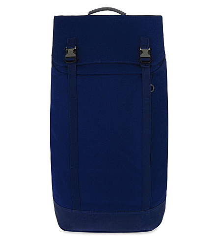 C6 Slim canvas backpack (Navy