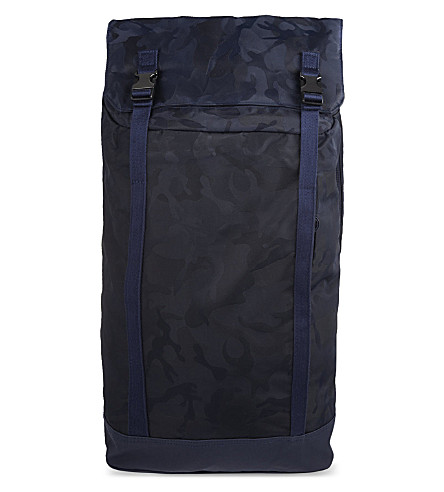 C6 Slim camo backpack (Navy