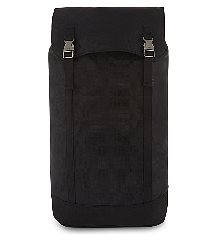 C6 Ballistic nylon slim backpack (Black