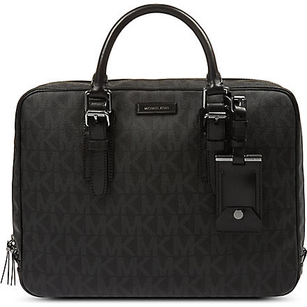 MICHAEL KORS Signature logo briefcase (Black