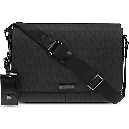 MICHAEL KORS Signature messenger bag (Black