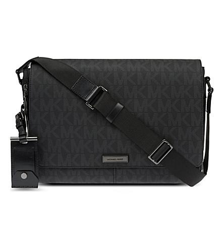 MICHAEL KORS Signature messenger bag (Black