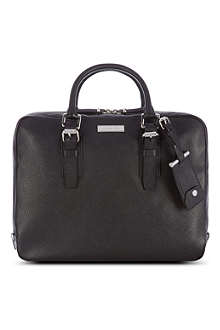 MICHAEL KORS Mottled leather briefcase