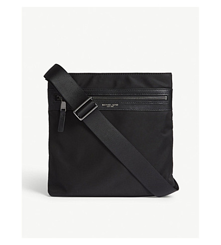 MICHAEL KORS Lightweight nylon cross-body bag (Black