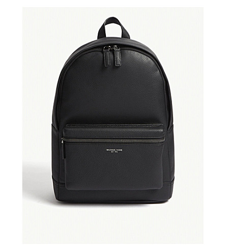 MICHAEL KORS Bryant pebbled leather backpack (Black