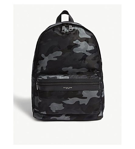 ... MICHAEL KORS Jacquard camouflage nylon backpack (Grey. PreviousNext 6eee95ecde2d