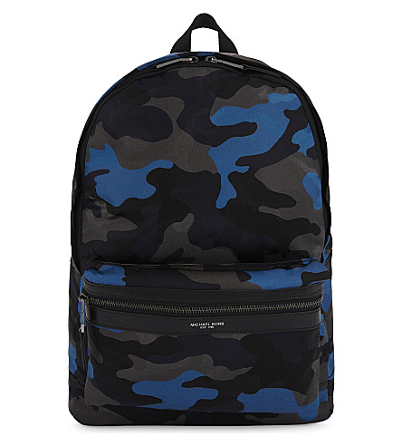 MICHAEL KORS Camo print backpack (Midnight