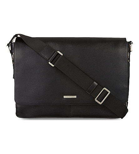MICHAEL KORS Maya leather large messenger bag (Black