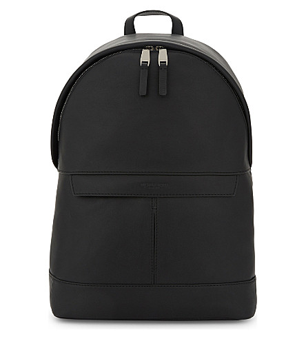MICHAEL KORS Odin smooth leather backpack (Black
