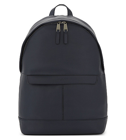 MICHAEL KORS Odin smooth leather backpack (Navy