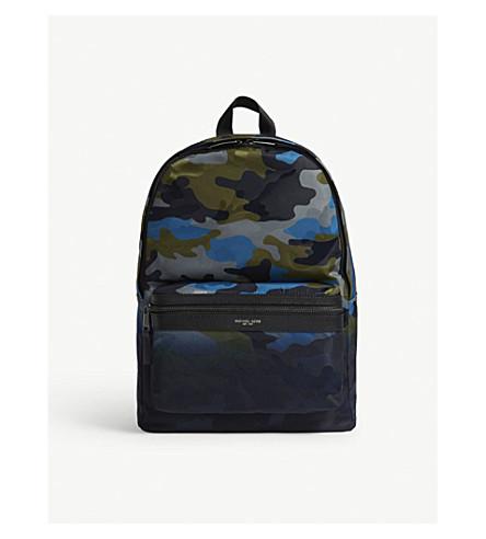 MICHAEL KORS Kent camouflage nylon backpack (Ocean
