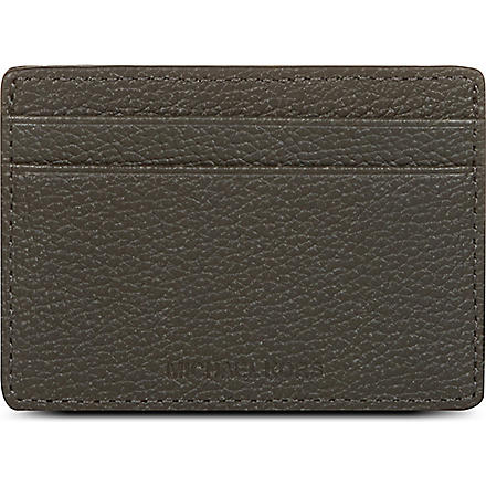 MICHAEL KORS Leather card case (Graphite