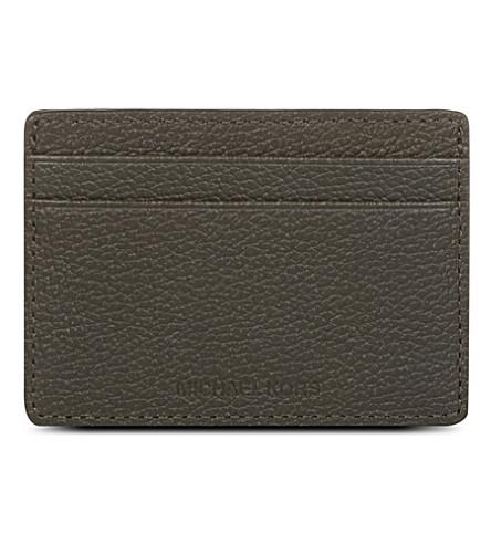 MICHAEL KORS Leather card case (Graphite