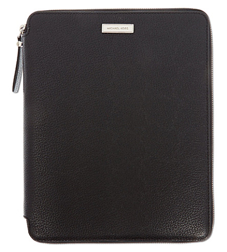 MICHAEL KORS Leather iPad case (Black