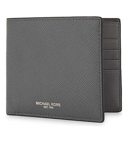 MICHAEL KORS Harrison leather billfold wallet (Grey