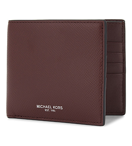MICHAEL KORS Harrison leather billfold wallet (Rouge red