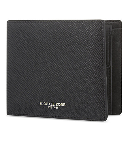 MICHAEL KORS Harrison leather billfold wallet (Black