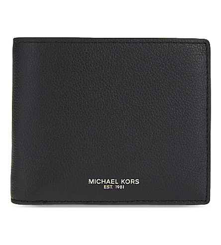MICHAEL KORS Bryant leather billfold wallet (Black